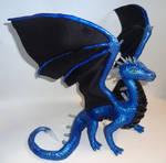 Metallic Quartz Dragon Sculpture