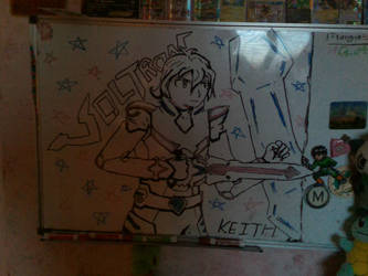 Keith Kogane (Voltron White Board Drawing) by rambowcomit