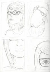 SelfPortrait Thumbnails (4/6) Realistic Practice 3 by rambowcomit