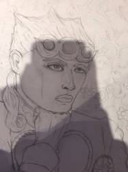 Giorno Giovanna (WIP) by rambowcomit