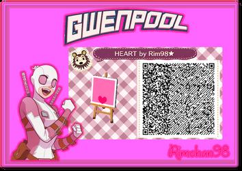 Gwenpool umbrella QR CODE