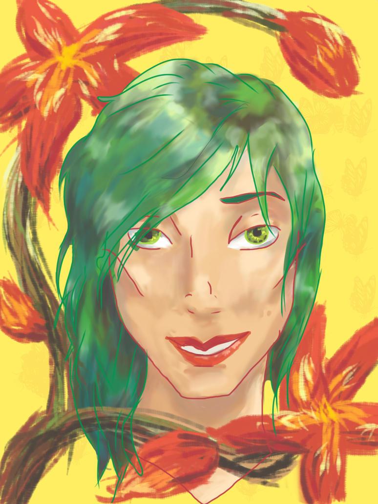 Alana: portrait in flowers by starry-girl