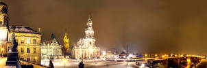Dresden under snow