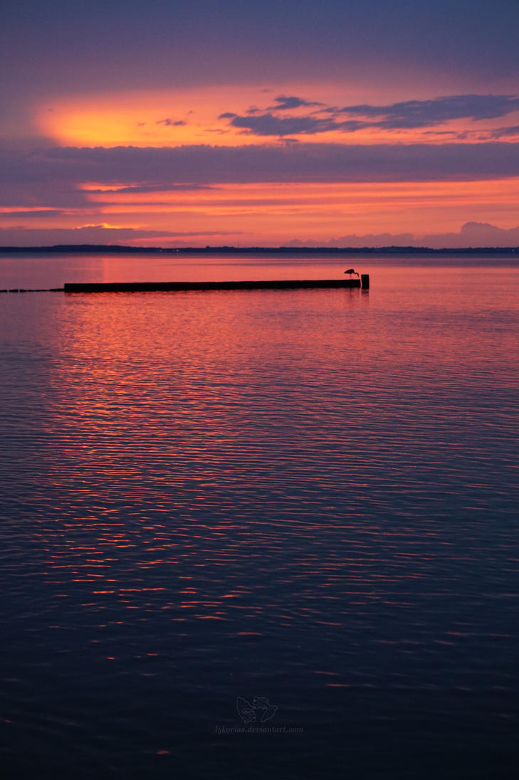 Baltic sea sunset II by Lykorias