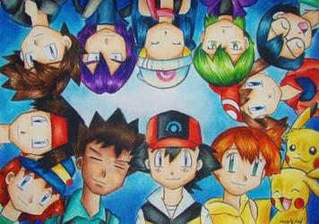 Pokemon Group by cicuskamarichu