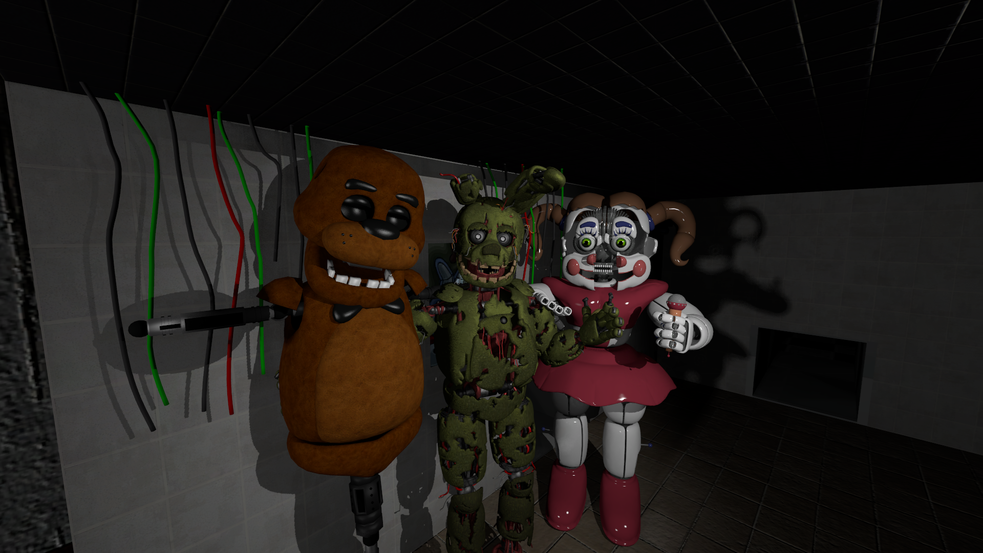Fnaf 3 Sfm Springtrap Icon Pose Full Body Hd On Deviantart