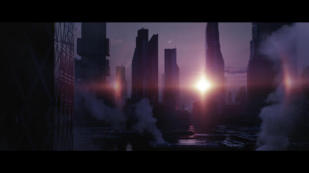 Sci-Fi City by ManuelGrad