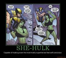 She-Hulk and Wolverine by Miku-Nyan02