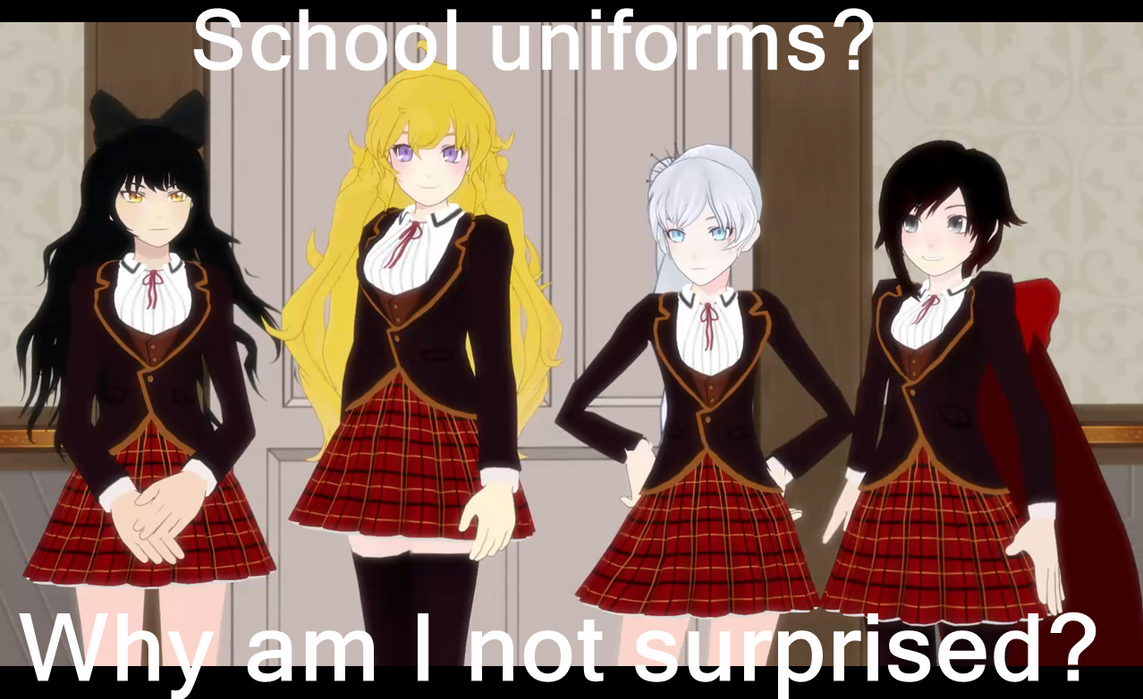 Rwby School Uniforms By Miku Nyan02 On Deviantart
