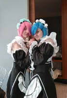 Re:Zero - Ram and Rem cosplay