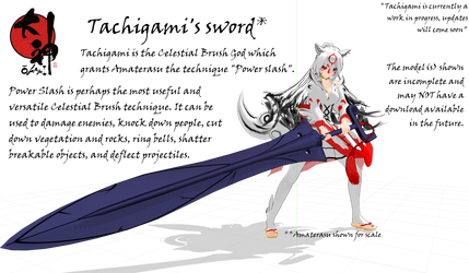 .:MMD:. Tachigami's sword another WIP by Miku-Nyan02