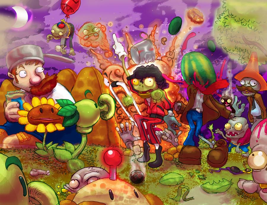 plants vs zombies by brunodeloera