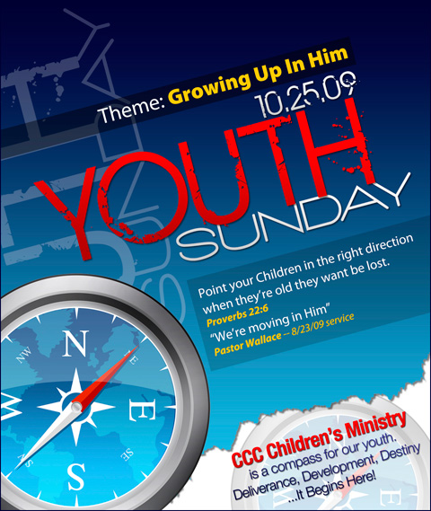 Youth Sunday Flyer by cgitech
