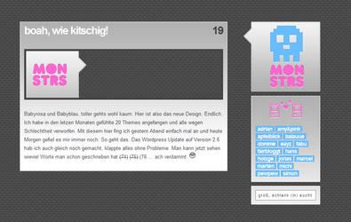 New Blog Design by monstrrr