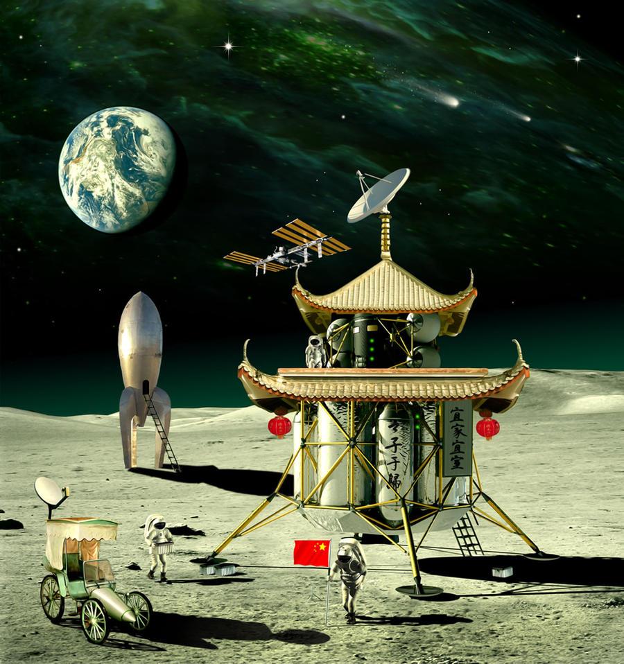 Chinese Lunar lander by funkwood