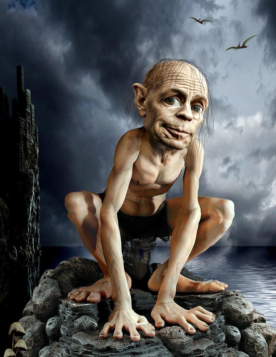 Bruce Willis Gollum by funkwood