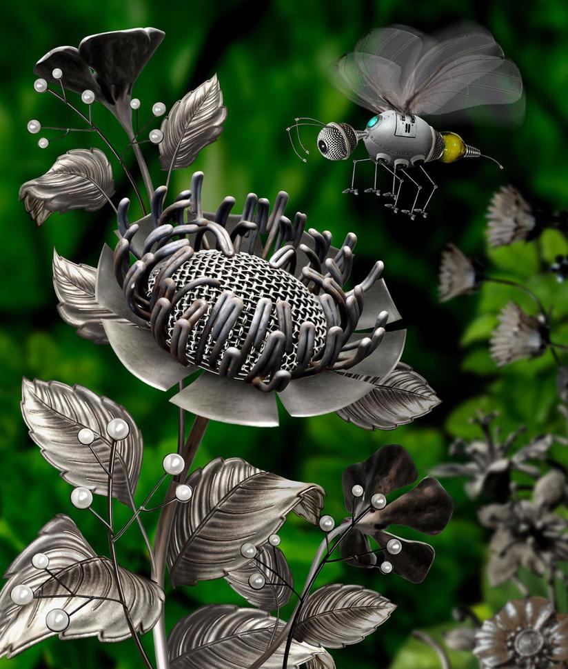 Metallic flower by funkwood