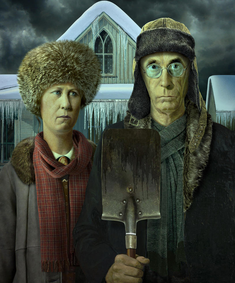 American Winter Gothic by funkwood