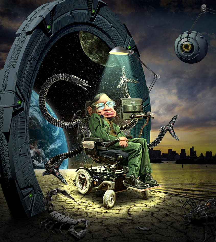 Stephen Hawking by funkwood
