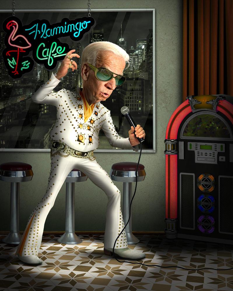 Biden as Elvis by funkwood