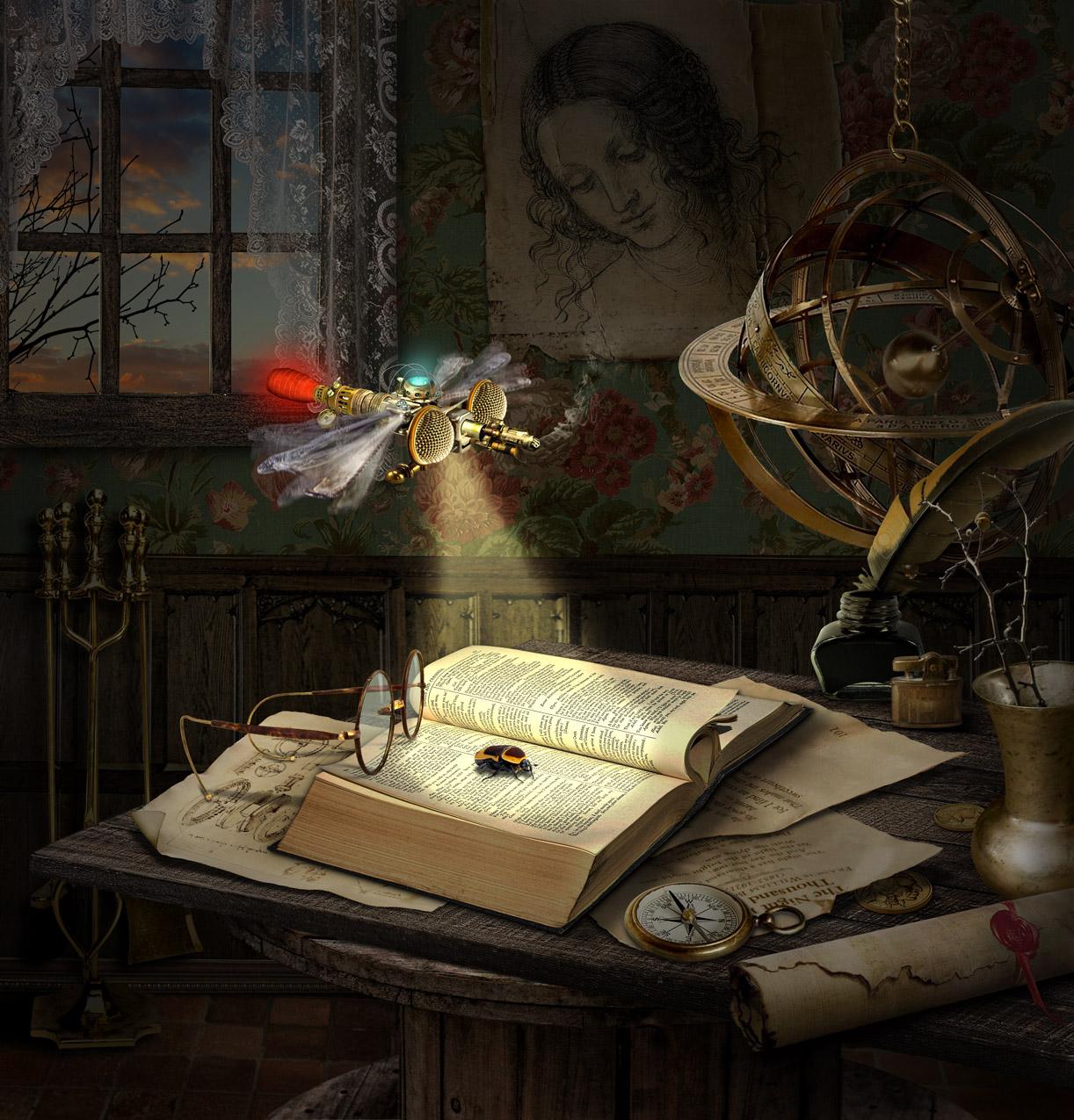Steampunk Dragonfly by funkwood
