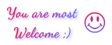 You Are Most Welcome Banner Smile   Freestuff By A by funkwood
