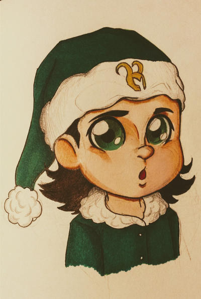 Baby Christmas Loki by xGoldenLocks