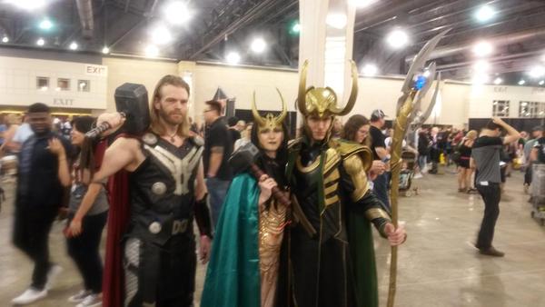 .:Lady Loki with LokiHatesYou and ThorTV:. by xGoldenLocks