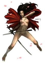 Sexy Samurai Courtesan by dcwj