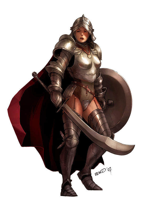 Female Knight by dcwj