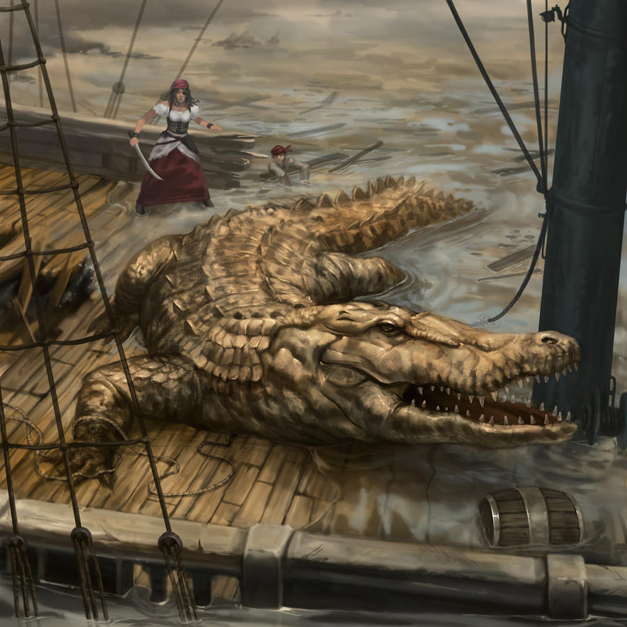 LON Big Old Croc by dcwj