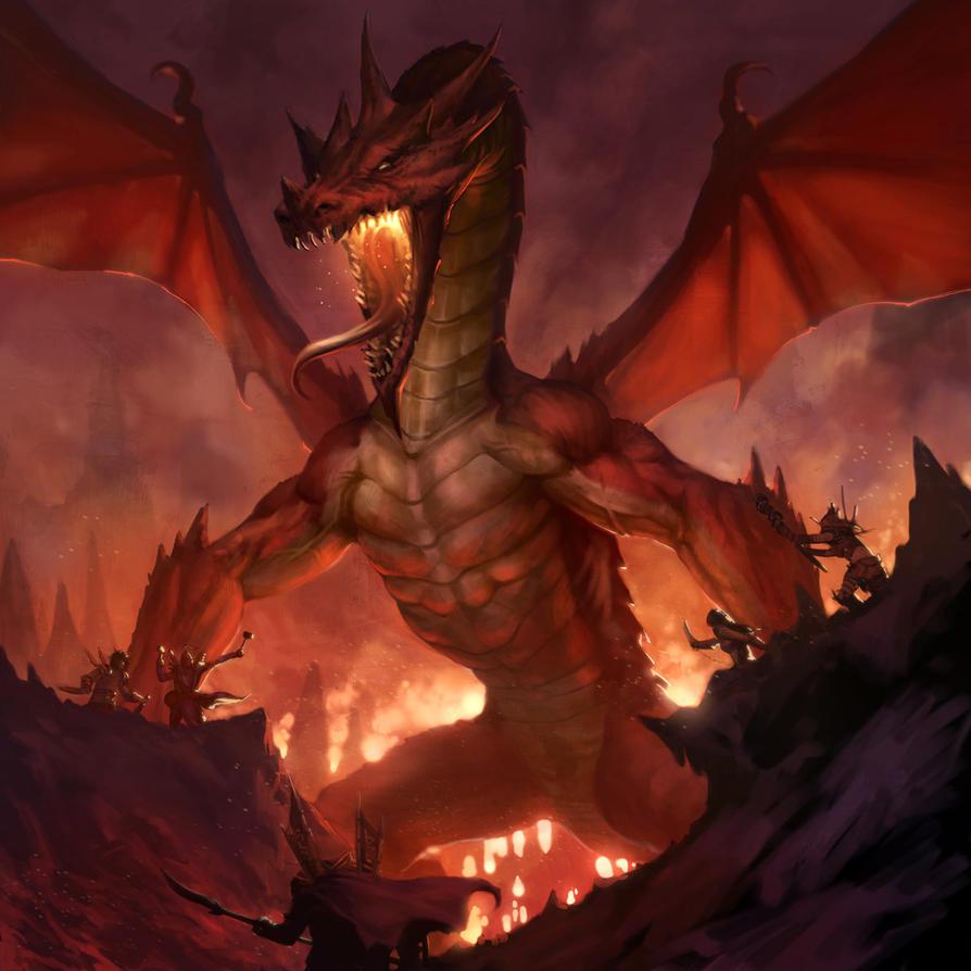 LON dragon battle by dcwj