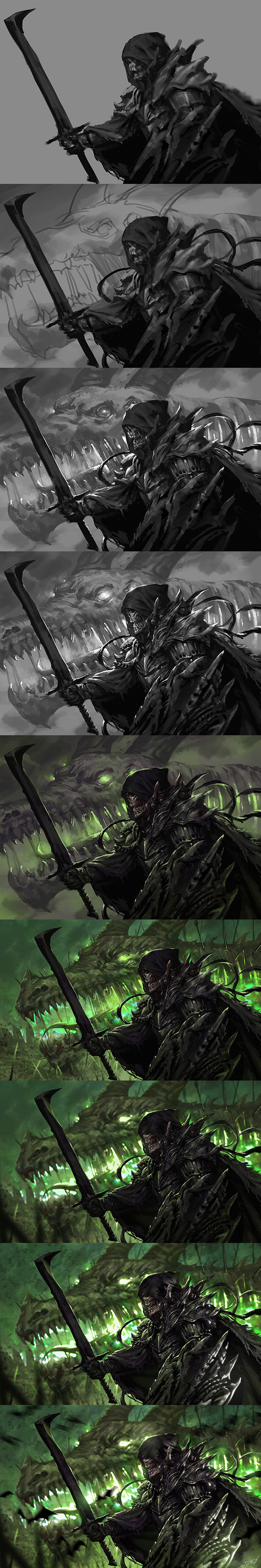 Undead Knight Work Process by dcwj