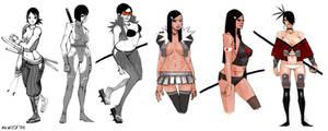 Hara Kiri Concept Sketches