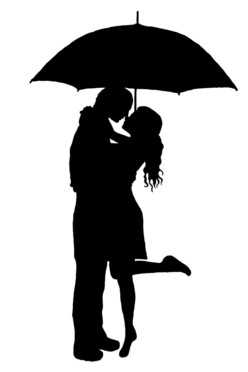 Displaying 19 gt  Images For - Silhouette Kissing Under Umbrella   Couple Silhouette Umbrella Crayon Art
