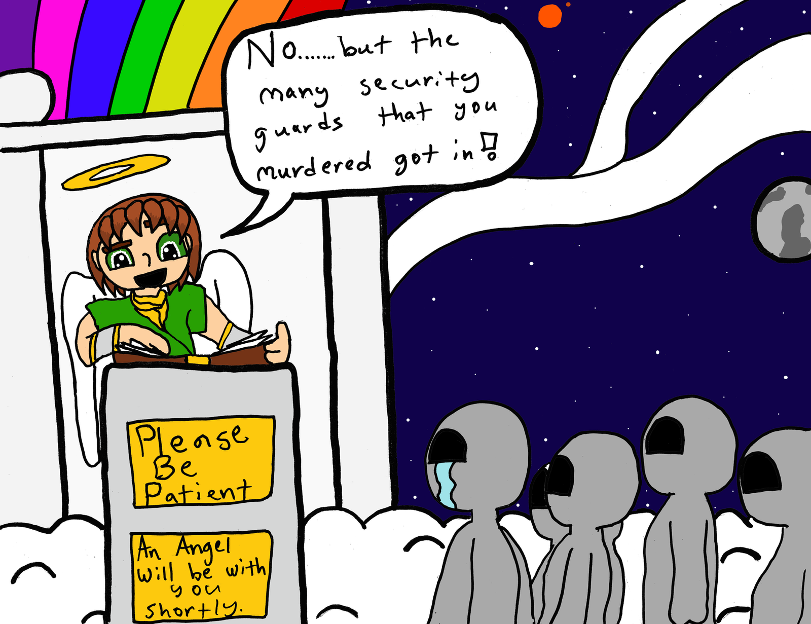 The Ghost Kids Go To Heaven Wait Scratch That By SaintHeartwing