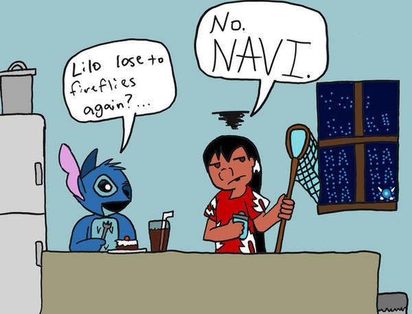 Score: Lilo 0, Navi 1