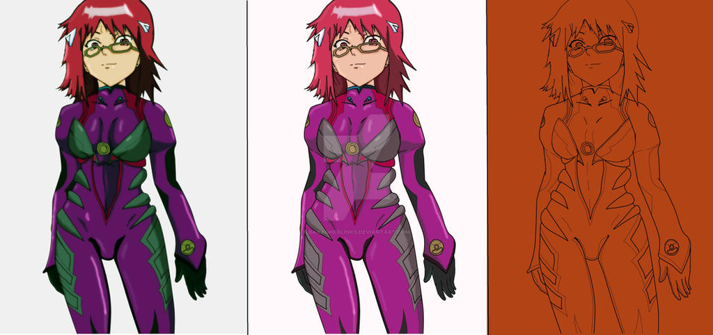 a438de1941310 Karin In A Plug Suit colored by Banagherlinks on DeviantArt