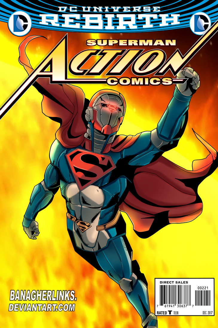Action comics cover: The Battle Armor