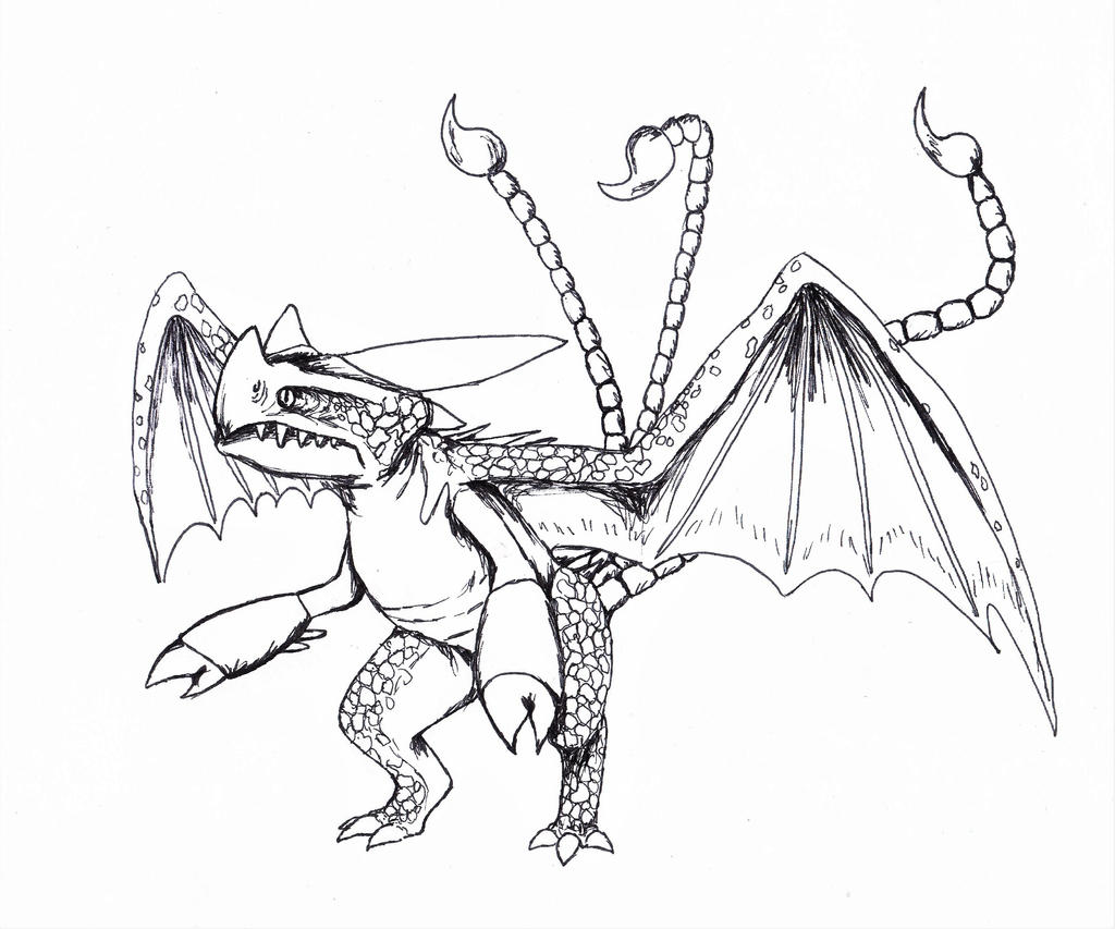 dragons race to the edge coloring pages - triple stryke by akeliet on deviantart