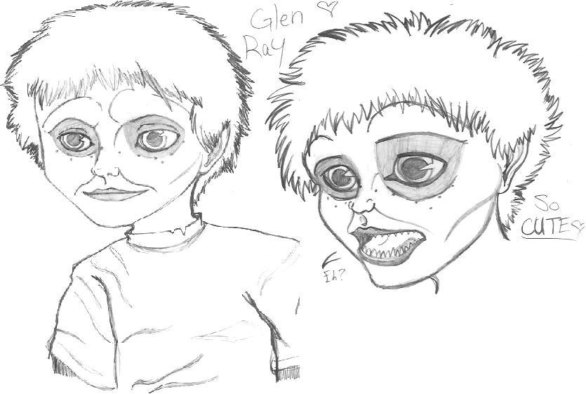 Glen ray omg by hemorrhage on deviantart for Chucky doll coloring pages