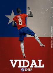 Arturo Vidal Poster by AbuKlila