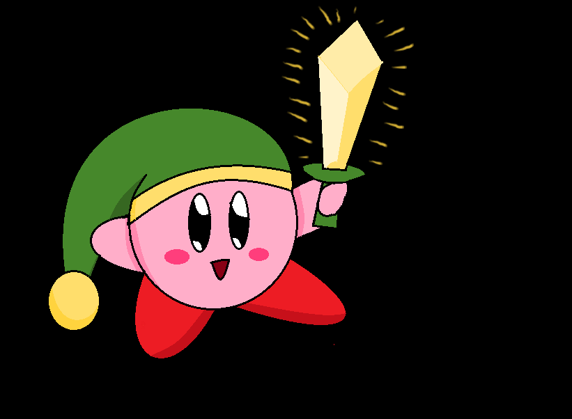 Cute Sword Kirby By DarkStarGirl77