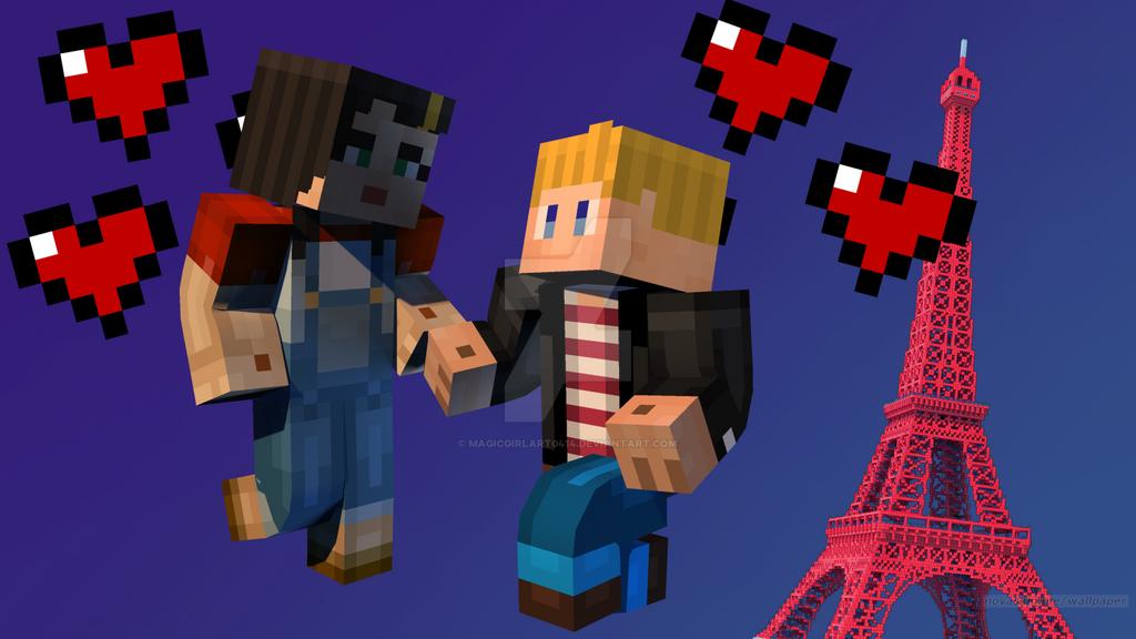Minecraft story mode lukas x f jesse love by magicgirlart0414 on deviantart - Minecraft story mode wallpaper ...