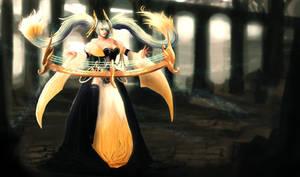 Radiant Dusk Marve of Strings Sona by ArtNotHearts