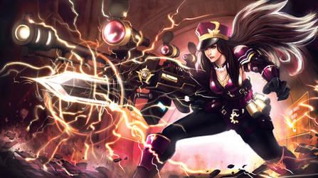 Season 3: League Of Legends Caitlyn The Statikk by ArtNotHearts