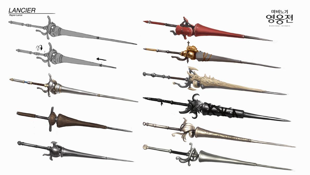 Mabinogi Heroes Season 3 - New Weapon Lancier by ArtNotHearts