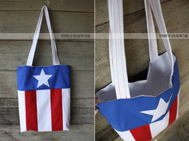 captain america tote by resubee