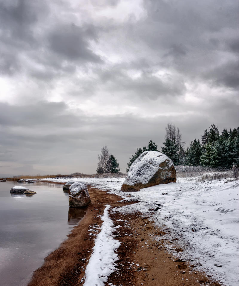 winter's shore by xrust