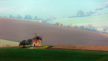 Windmill on Moravian waves